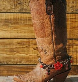 Redneck Couture Scarlett Rose Boot Bracelet Red Adult