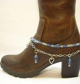 Central Texas Leather Boot Candy Sapphire Blue Adult