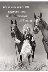 "Card - ""Riding Through Life"" Anniversary"