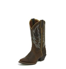 Justin Western Women's Justin Calimero Distressed Chocolate Western Boots (Reg $139.95 now $25 OFF!)