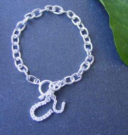 Baron Silver Bracelet - Double Horseshoe - Stearling Silver