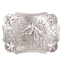 Nocona Belt Buckle - Youth Horsehead Silver Kids