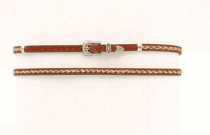 Hat Band - Leather w/HorseHair Braid
