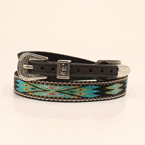 """Hat Band - 5/8"""" Multi-Colored Aztec Print"""