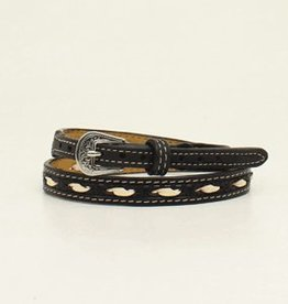 "Hat Band - 1/2"" Black w/Ivory"