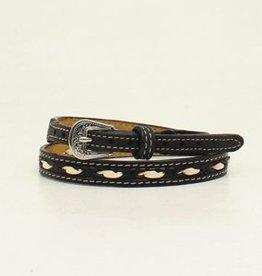 "Hatband - 1/2"" Black w/Ivory"