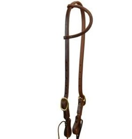 Circle L Circle L Plain One Ear Headstall - Horse Size Dk. Oil