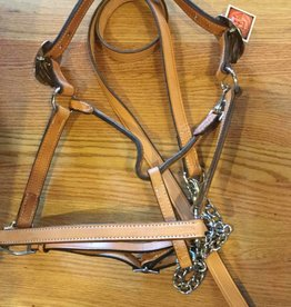 Circle L Circle L Leather Halter & Lead - Light Oil, Horse Size