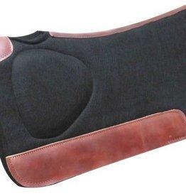 Showman Showman Black Felt Saddle Pad w/Build-Up Shoulder