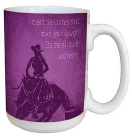 Coffee Mug - Ceramic, Various - 15oz Cowgirl Attitude
