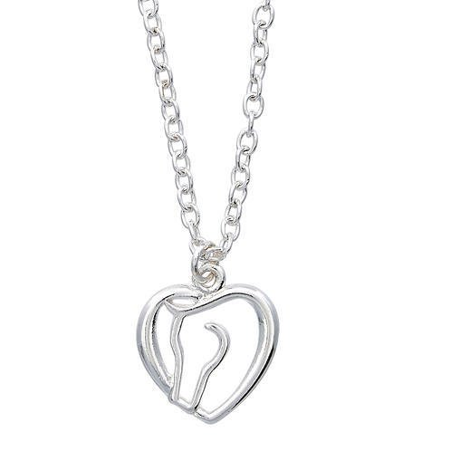 AWST Necklace - Heart & Horse Head