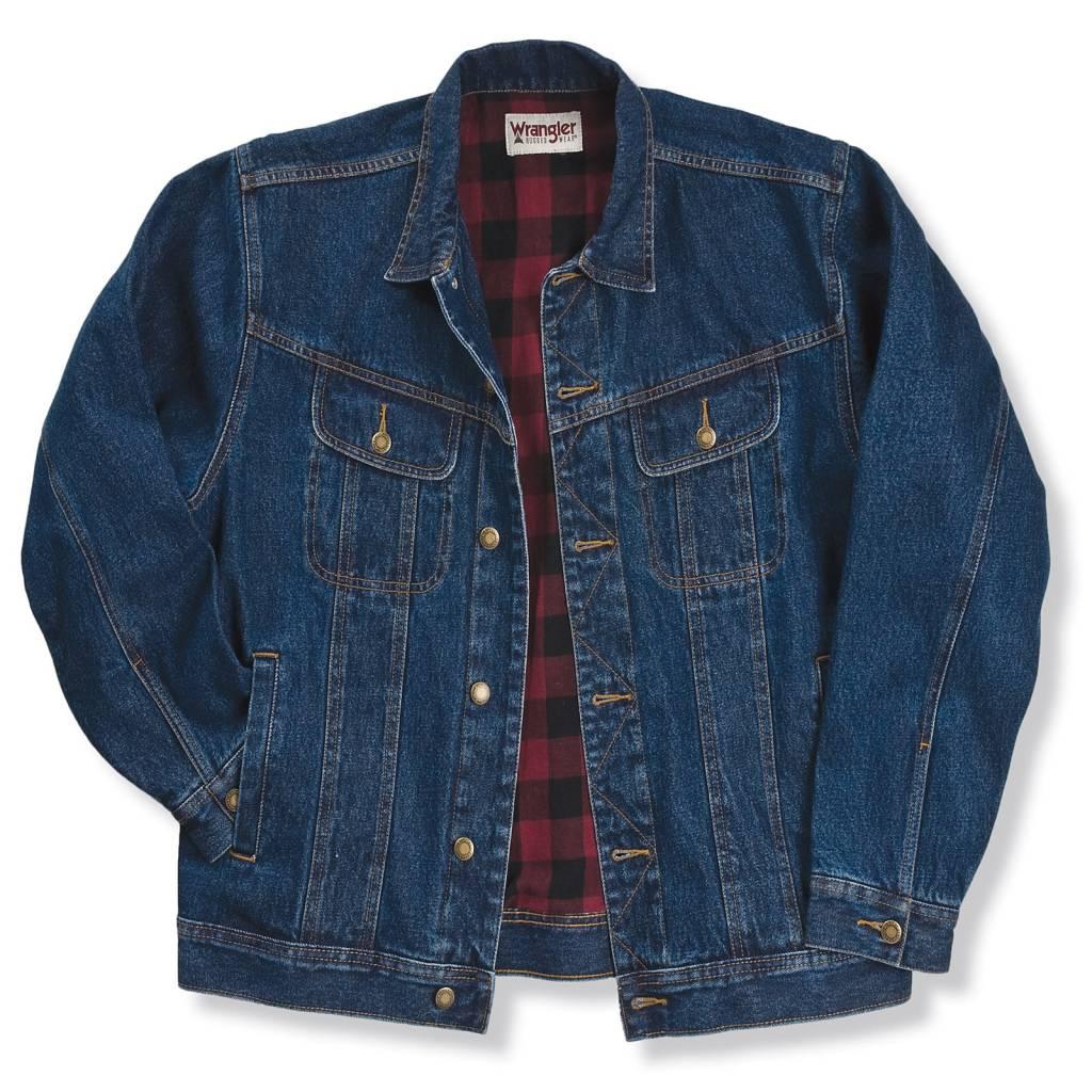 e915eca421 Men's Wrangler Flannel Lined Denim Jacket