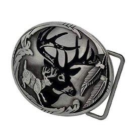 """WEX Belt Buckle - Deer 3-1/4"""" X 2-1/2"""""""
