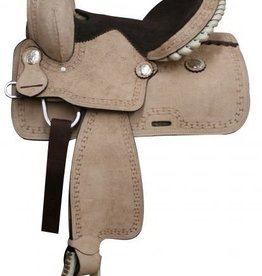"Double T 13"" FQHB Roughout Youth Saddle"