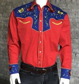 Rockmount Men's Rockmount 2-Tone Floral Embroidery Western Shirt