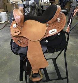 """Nash Saddlery Nash Pace Maker Barrel Saddle - 15"""" Reg Bar"""