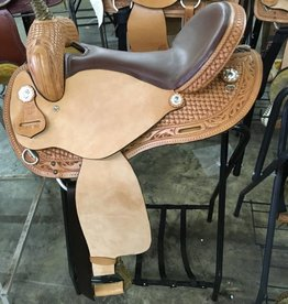 "Nash Saddlery Nash Branson Barrel Saddle - 16"" Reg Bar"