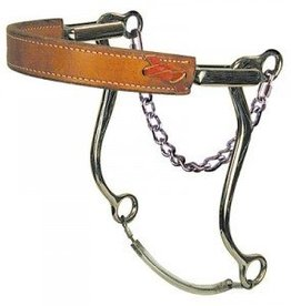 """Circle Y Hackamore - Flat Leather Nose  8"""" Cheek, Horse Size"""