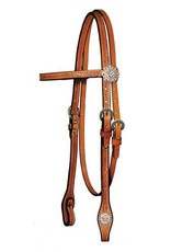 Circle Y Floral Clear Crystal Headstall Floral Full