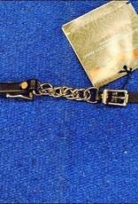 """Circle Y Curb Chain - 3.5"""" Chain - Dark Brown"""