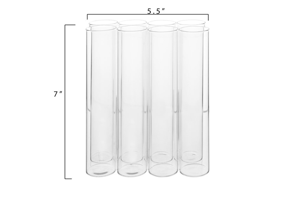 Creative Co-op Glass Connected Bud Vase w/ 8 Tubes