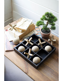 Kalalou Wooden Tic Tac Toe Set