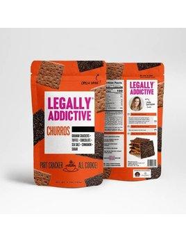 Legally Addictive Churros Cracker Cookies