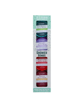 Rinse Bath Body Inc Shower Bomb - 4 Pack- Assorted