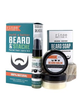 Rinse Bath Body Inc Beard & Stache Kit