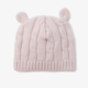 Elegant Baby Boxed Cable Sweater and Hat 6M - Pink