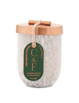 Paddywax Cypress & Fir Brown Glass 7oz - White