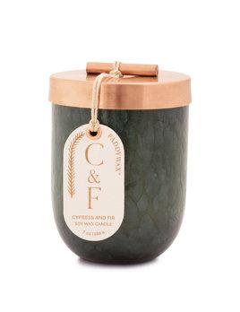 Paddywax Cypress & Fir Brown Glass 7oz - Green