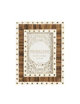 Shiraleah Mansour Two Tone 4x6 Picture Frame