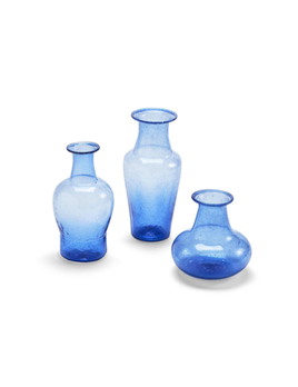 Two's Company Bubbles Hand Crafted Vases