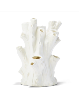 Two's Company White Tree Trunk Vase