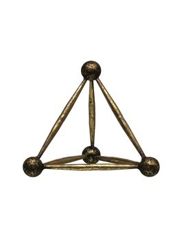 Creative Co-op Metal Obelisk Shaped Decor - Antique Brass Finish