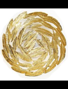 Two's Company Gold Leaf Aluminum Decorative Bowl - L