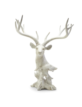 Two's Company White Deer Decor