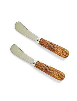 Two's Company Set of 2 Bark Handle Spreaders