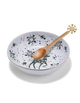 Two's Company 'Tis The Season Tidbit Dish w/ Spoon
