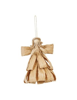 Creative Co-op Handmade Palm Angel Ornament