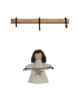 Creative Co-op Wool Felt Angel Ornament