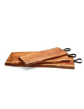 Two's Company Serving Board with Iron Handle