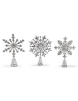 Two's Company Sparkle Snowflake Tree Topper