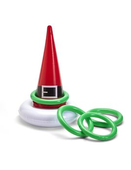 Two's Company Inflatable Santa Hat Ring Toss Game