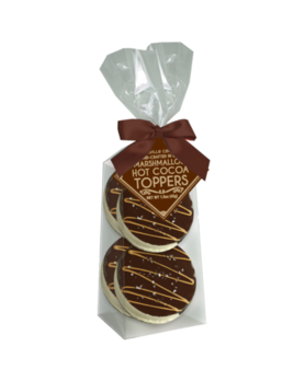 Melville Candy Dark Chocolate Salted Caramel Marshmallow Toppers - 4 Pack