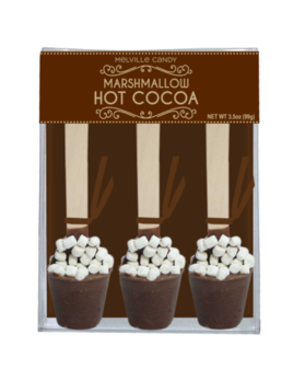 Melville Candy Mini Marshmallow Hot Chocolate Spoons - Set of 3