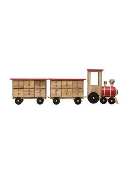 Creative Co-op Wood Train Advent Calendar