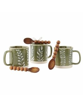 Mudpie Green Leaf Mug