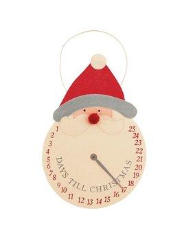 Mudpie Countdown Santa Clock Hanger